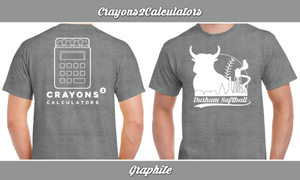 Crayons2Calculators plays rec adult softball for charity.