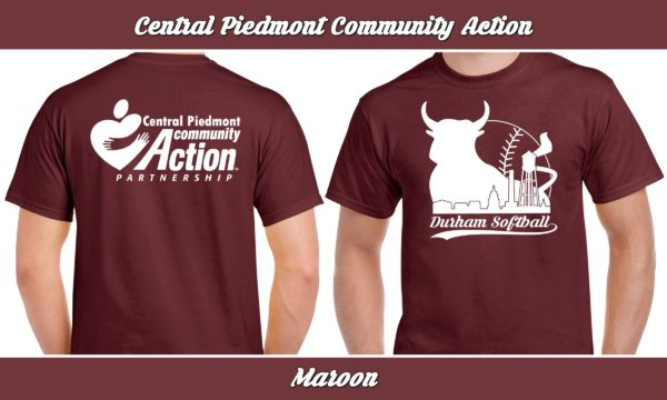 Central Piedmont Community Action plays rec adult softball for charity.