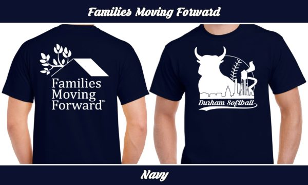 Families Moving Forward plays rec adult softball for charity.