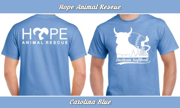 Hope Animal Rescue plays rec adult softball for charity.