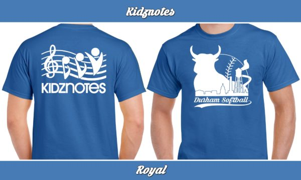 Kidznotes plays rec adult softball for charity.