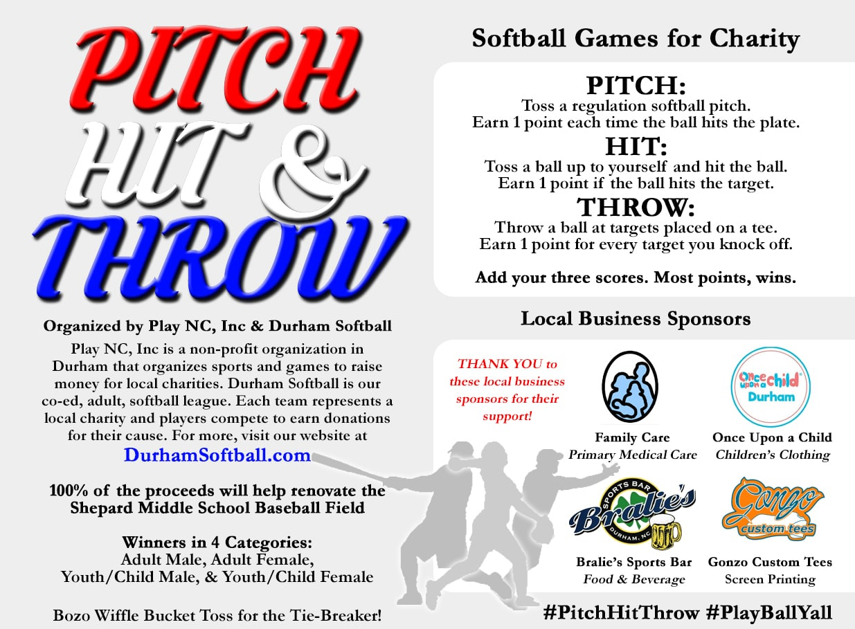 Pitch, Hit, & Throw Fundraiser Event