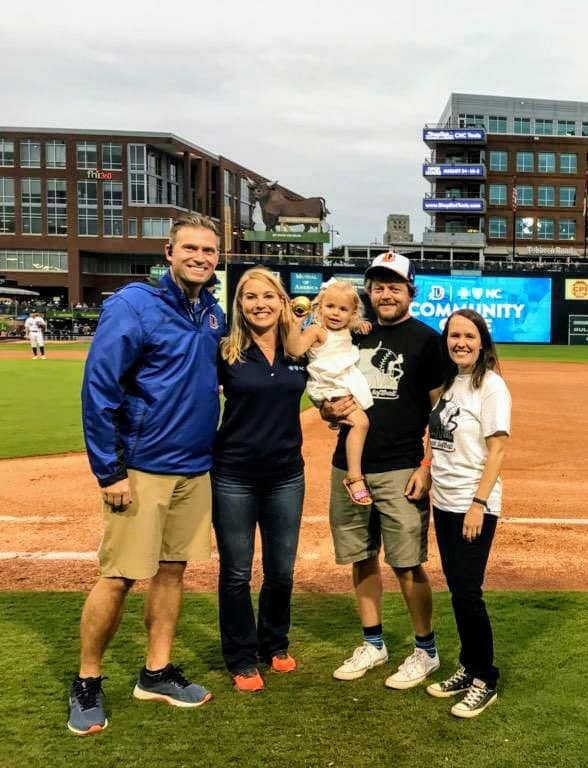 Ryan Mentock wins Durham Bulls Community Captain Award on August 24, 2019.